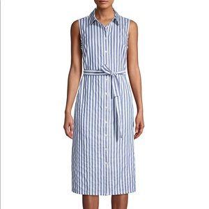 Tommy Hilfiger® Chambray Stripe Shirtdress.